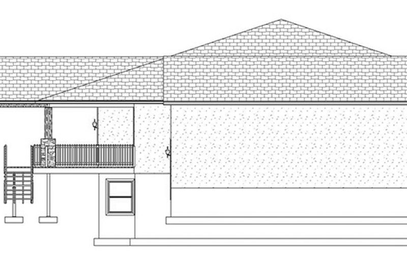 Ranch Exterior - Other Elevation Plan #1060-21 - Houseplans.com