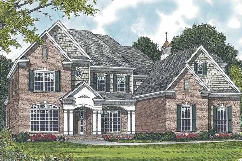 Dream House Plan - Traditional Exterior - Front Elevation Plan #453-556