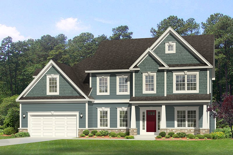 Traditional Exterior - Front Elevation Plan #1010-129 - Houseplans.com