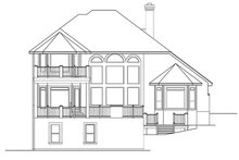 Dream House Plan - Mediterranean Exterior - Rear Elevation Plan #472-298