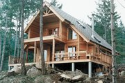 European Style House Plan - 2 Beds 2 Baths 1154 Sq/Ft Plan #118-142