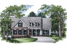 Country Exterior - Front Elevation Plan #927-243