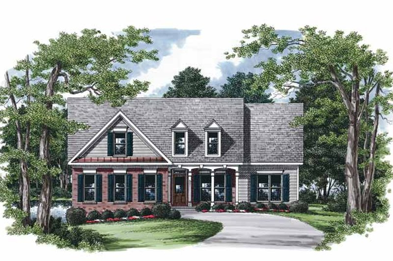 Dream House Plan - Country Exterior - Front Elevation Plan #927-243
