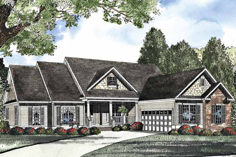 Country Exterior - Front Elevation Plan #17-3118 - Houseplans.com