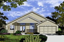Home Plan - Traditional Exterior - Front Elevation Plan #417-842