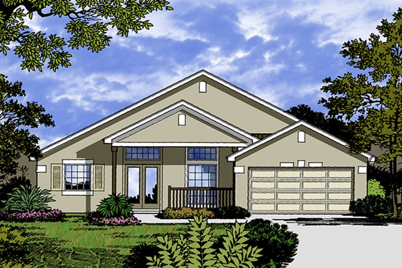 Traditional Exterior - Front Elevation Plan #417-842 - Houseplans.com