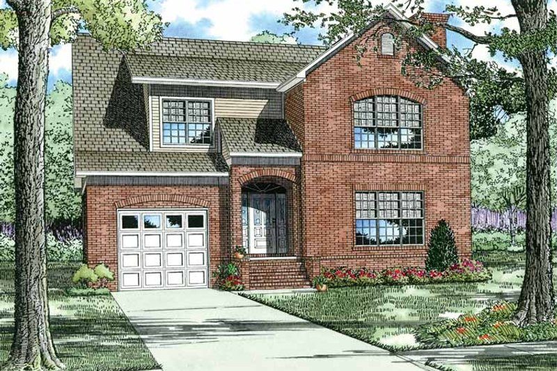 Home Plan - Contemporary Exterior - Front Elevation Plan #17-2691