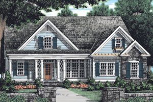 Country Exterior - Front Elevation Plan #927-901
