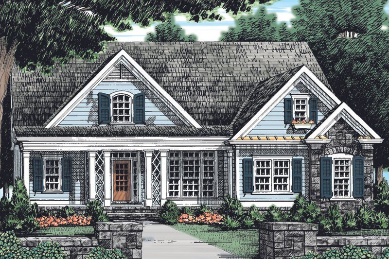 House Design - Country Exterior - Front Elevation Plan #927-901