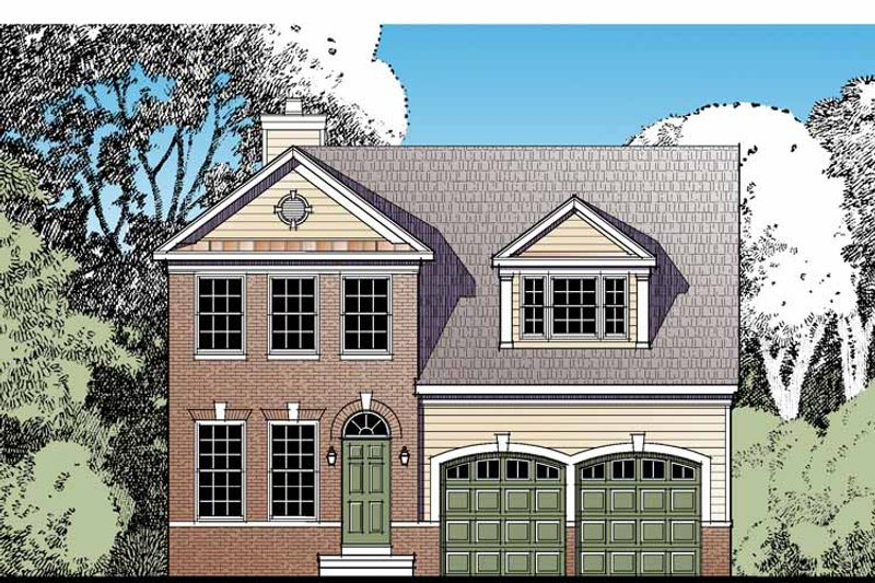 Traditional Exterior - Front Elevation Plan #1029-59 - Houseplans.com