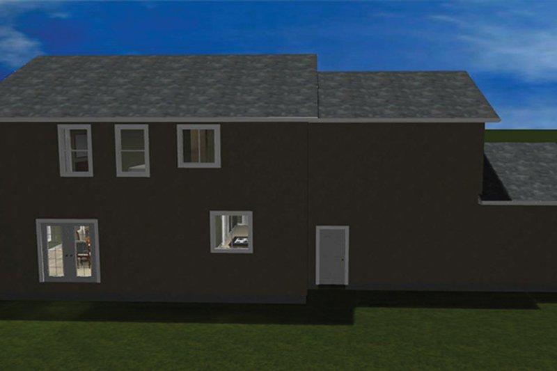 Traditional Exterior - Rear Elevation Plan #1060-15 - Houseplans.com