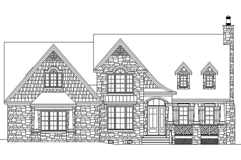 European Exterior - Front Elevation Plan #929-907 - Houseplans.com