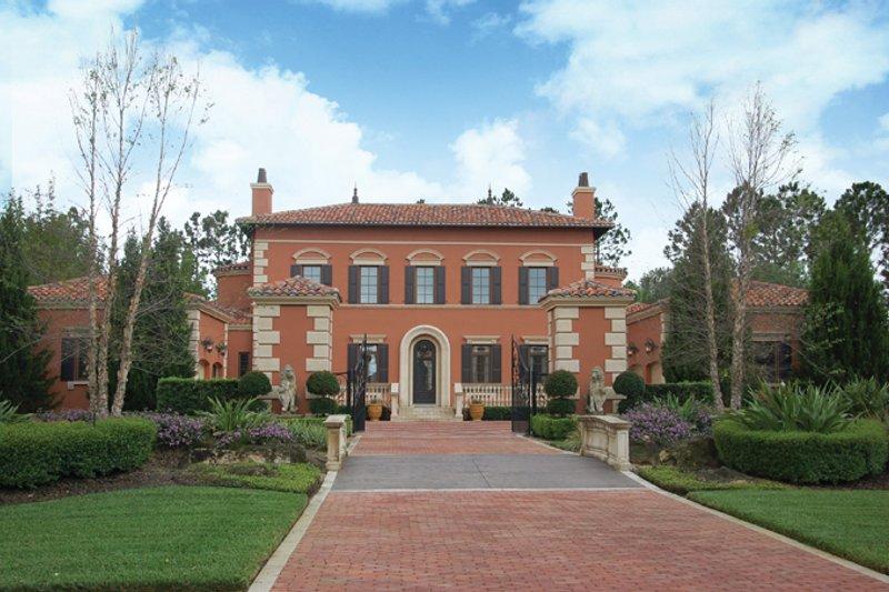 Architectural House Design - Mediterranean Exterior - Front Elevation Plan #1058-11