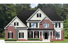 Colonial Exterior - Front Elevation Plan #1010-60