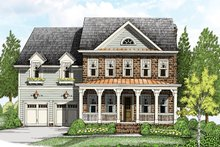 Colonial Exterior - Front Elevation Plan #927-956