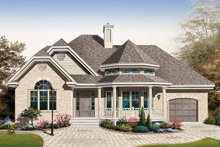Country Exterior - Front Elevation Plan #23-2401