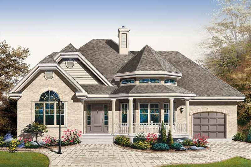 Dream House Plan - Country Exterior - Front Elevation Plan #23-2401