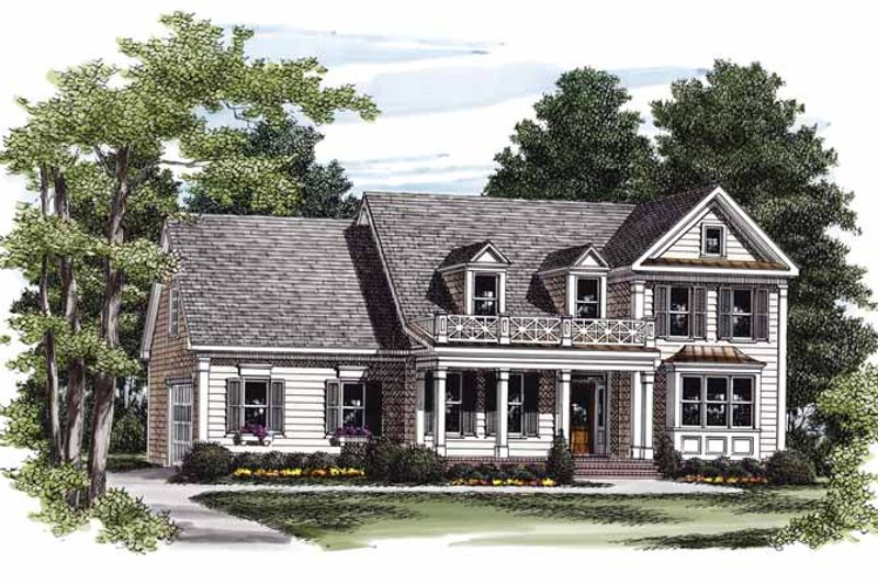 Colonial Exterior - Front Elevation Plan #927-844