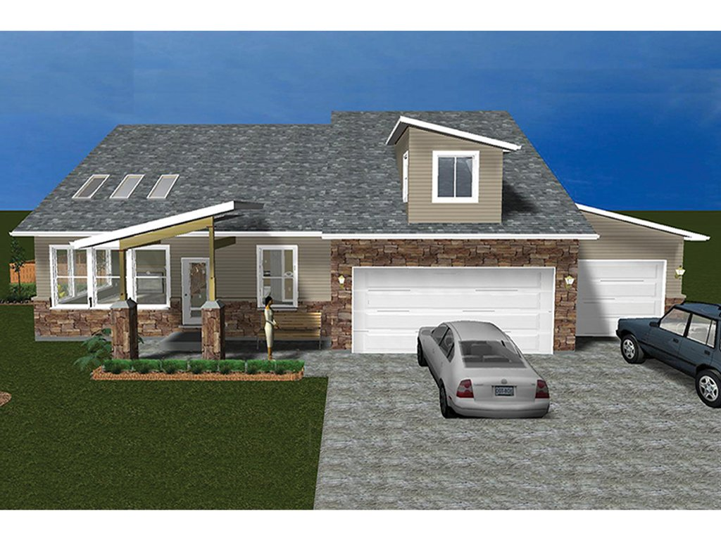 Ranch style house plan 3 beds 3 baths 3565 sq ft plan for Www eplans com
