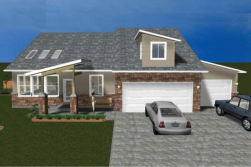 Ranch Exterior - Front Elevation Plan #1060-6 - Houseplans.com