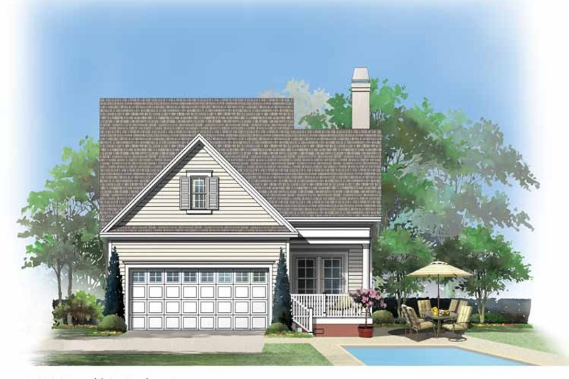 Country Exterior - Rear Elevation Plan #929-719 - Houseplans.com