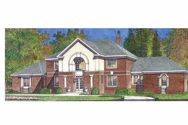 House Plan Design - European Exterior - Front Elevation Plan #1016-96