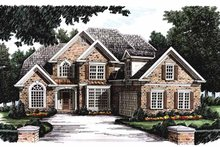 Dream House Plan - European Exterior - Front Elevation Plan #927-190