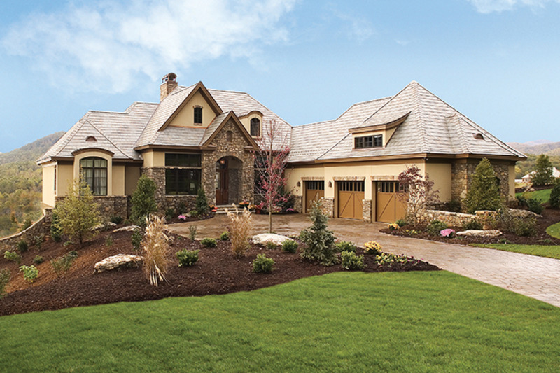 European Exterior - Front Elevation Plan #929-893 - Houseplans.com