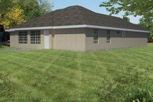 Home Plan - Adobe / Southwestern Exterior - Rear Elevation Plan #1061-19