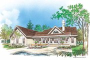Country Style House Plan - 3 Beds 2.5 Baths 1867 Sq/Ft Plan #929-191 Exterior - Rear Elevation