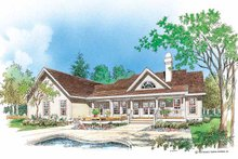 Country Exterior - Rear Elevation Plan #929-191