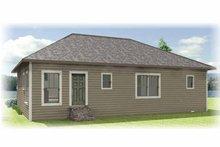Craftsman Exterior - Rear Elevation Plan #44-217