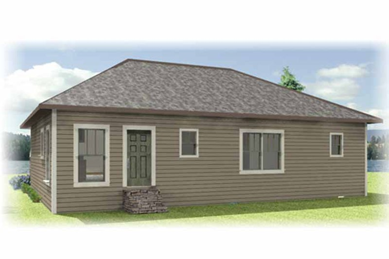Craftsman Exterior - Rear Elevation Plan #44-217 - Houseplans.com