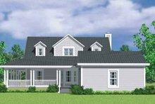 House Plan Design - Victorian Exterior - Rear Elevation Plan #72-1132