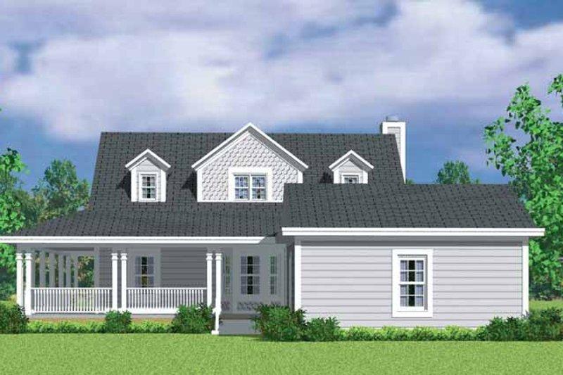 Victorian Exterior - Rear Elevation Plan #72-1132 - Houseplans.com