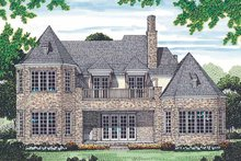 House Plan Design - Country Exterior - Rear Elevation Plan #453-453