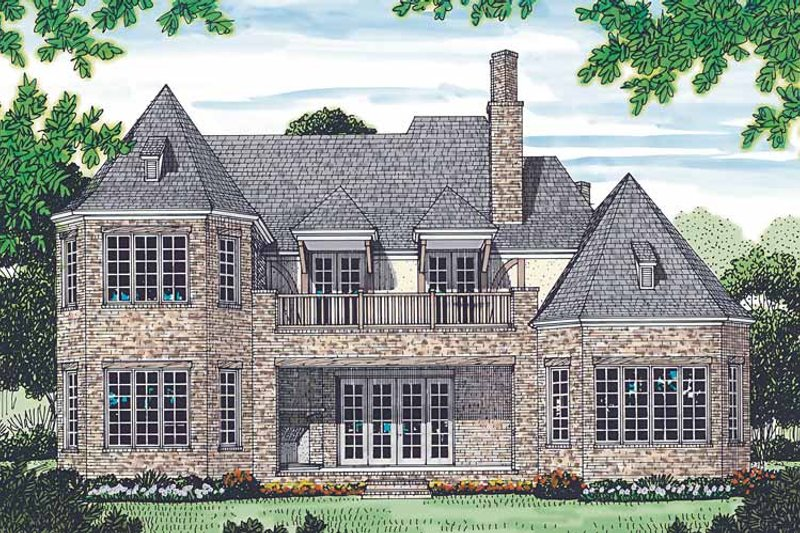Country Exterior - Rear Elevation Plan #453-453 - Houseplans.com