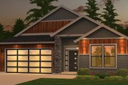 Ranch Style House Plan - 3 Beds 2 Baths 1815 Sq/Ft Plan #943-50 Exterior - Front Elevation
