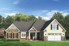 Ranch Exterior - Front Elevation Plan #1010-44