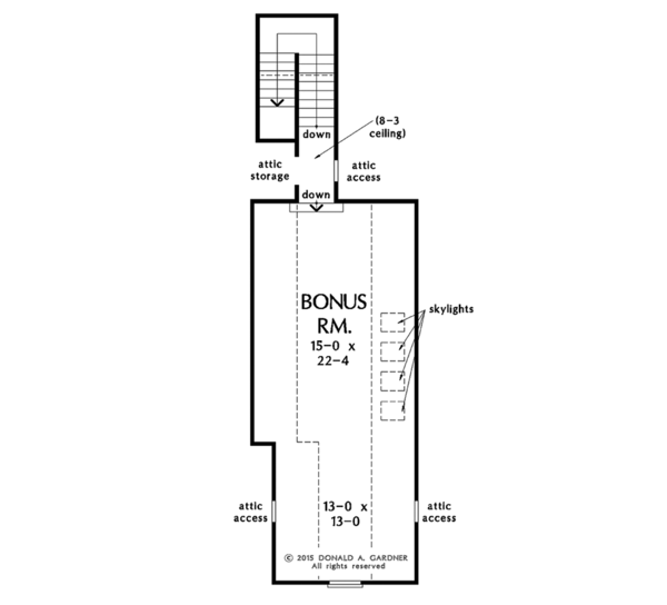 Ranch Floor Plan - Other Floor Plan Plan #929-1005