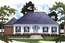Classical Exterior - Front Elevation Plan #36-553