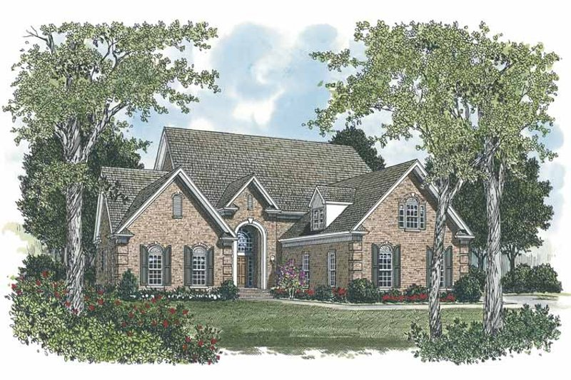 Traditional Exterior - Front Elevation Plan #453-545 - Houseplans.com