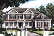 Classical Exterior - Front Elevation Plan #927-645