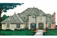 Architectural House Design - Country Exterior - Front Elevation Plan #310-1198