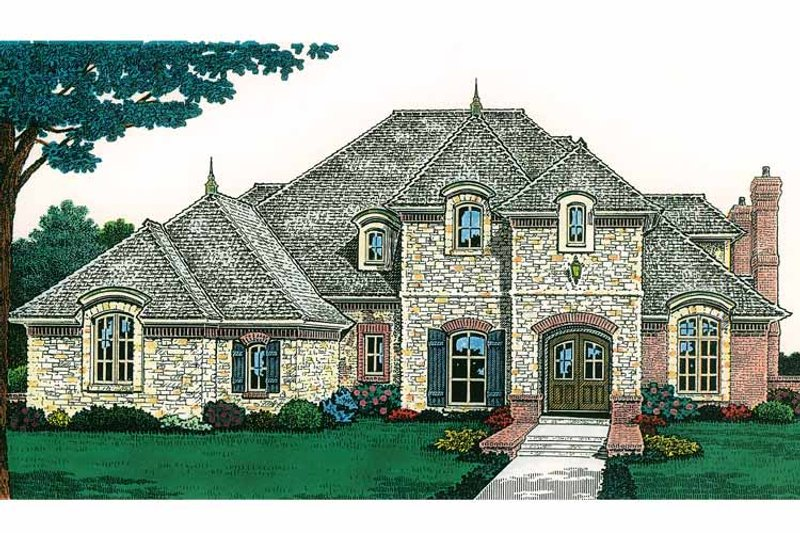 Country Exterior - Front Elevation Plan #310-1198 - Houseplans.com
