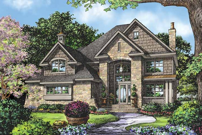 Home Plan - Country Exterior - Front Elevation Plan #929-835