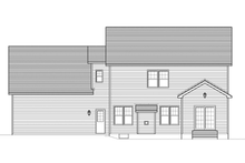Colonial Exterior - Rear Elevation Plan #1010-54