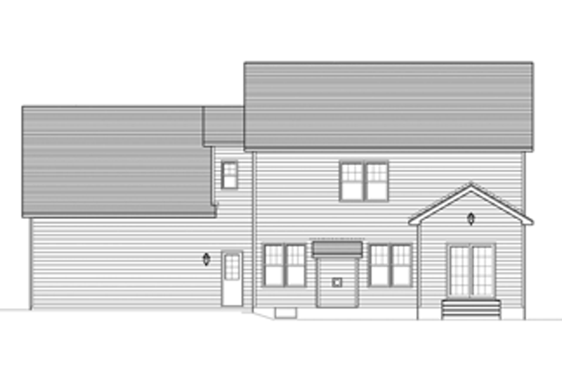 Colonial Exterior - Rear Elevation Plan #1010-54 - Houseplans.com