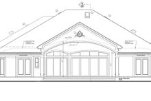 European Exterior - Rear Elevation Plan #1058-52