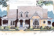 House Plan Design - Country Exterior - Front Elevation Plan #429-430